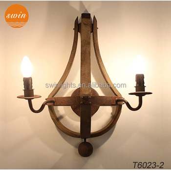 Loft industrial wood wall sconce 2 lights antique wrought iron wall loft industrial wood wall sconce 2 lights antique wrought iron wall lamp wtih ul aloadofball Image collections