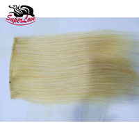 2019 New Arrival SuperLove hair pieces bangs Cheap Brazilian #613 Blonde virgin hair Silky Straight Black 100 human hair bangs