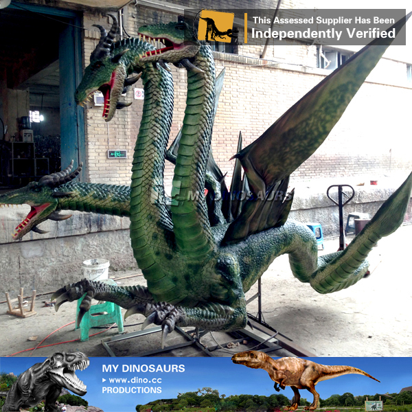 MY Dino-Newly Made Silicon Rubber Animal 3D Model Dragon for Amusement Park