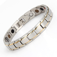Hot selling jewelry wholesale Stainless Steel Biker ss mens bracelets fashion magnetic silver bracelet