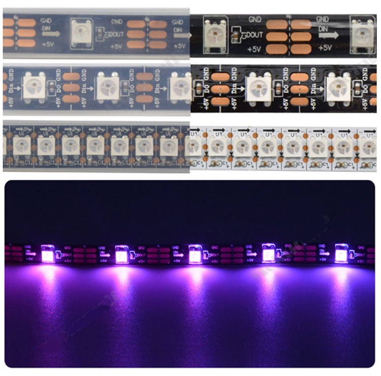 96LED pro Meter Flexible Digital Adressierbare dmx rgb led pixel streifen licht
