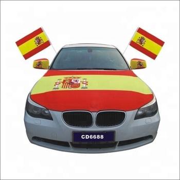 Spain Car Engine Hood Cover Spanish Car Hood Cover Flag