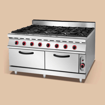 cheap price 8 burner gas range with oven for sale