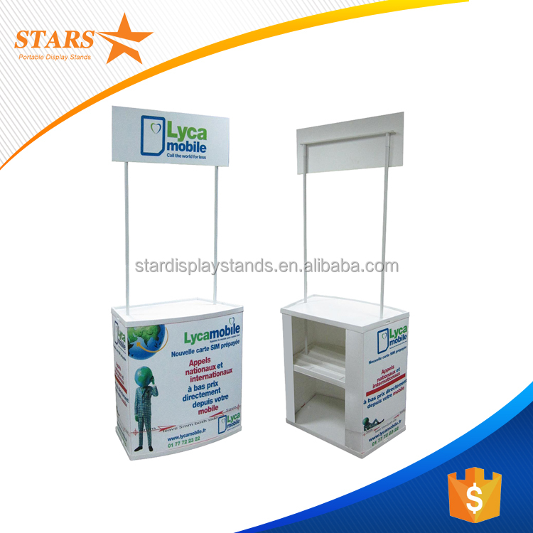 Portable ABS Plastic Promotion Table , Outdoor Plastic Promotion Counter