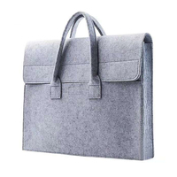 New model 15 inch wool felt laptop bag sleeve by OEM factory directly supply