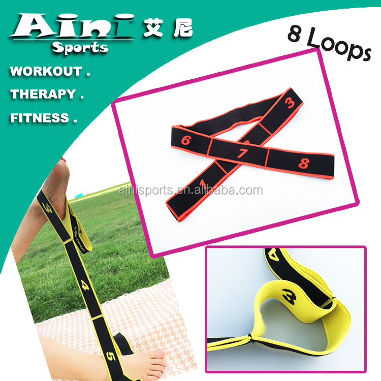 Nylon Fiber resistance loop bands,fitness bands loop,therapy bands loop for daily exercise bodybuilding