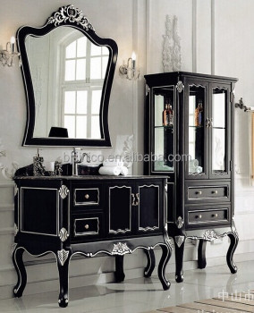 Luxury Hand Carved Wooden Bathroom Vanity Set, Victorian Style Bathroom  Furniture, Antique Style Sanitary