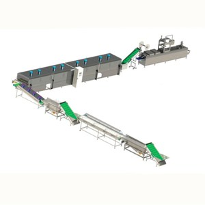 dates processing line grading pitting cleaning washing cutting drying thermoforming shrink packing machine