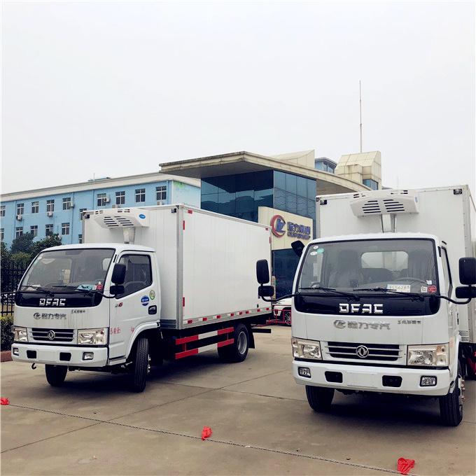 المصنع مباشرة بيع دونغفنغ 3 طن المبردة الفريزر شاحنة للبيع في تونس