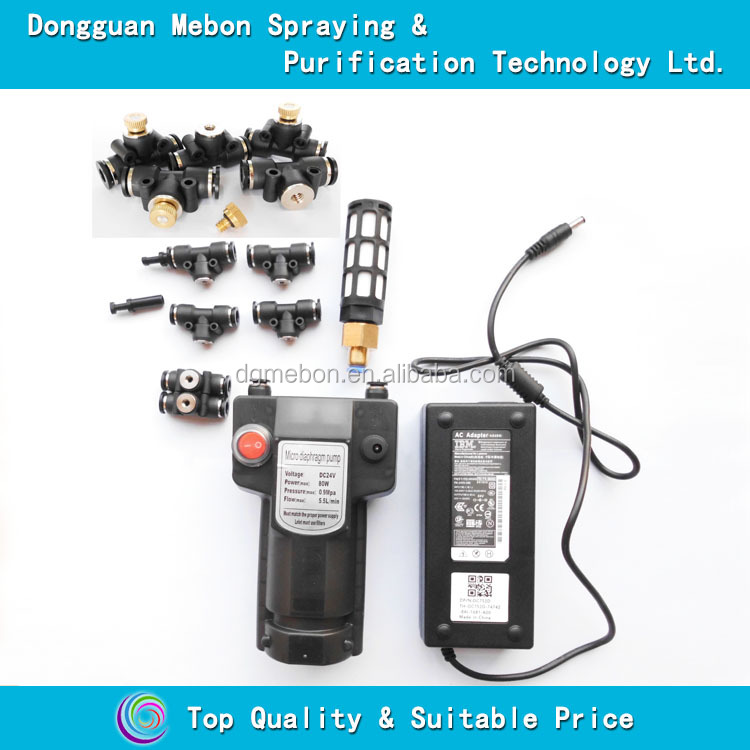 39 nozzles humidification fog system,fine mist cooling pump machine