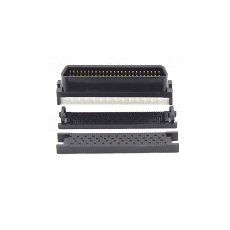 0.635mm Spacing Crimping SCSI HPDB 50 Pin male Ribbon Connector