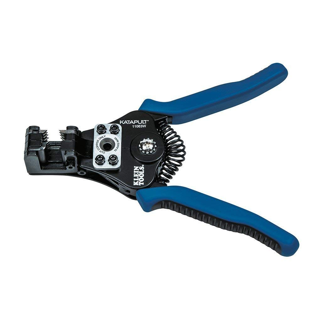 BESTChoiceForYou Wire Stripper/Cutter (8-22 AWG), Wire Cutter and Stripper, for 8-24 AWG Solid and 10-22 AWG Stranded Electrical Wire (Black/Blue), Wire Stripper Cutter 8 Tools 22 Awg Katapult