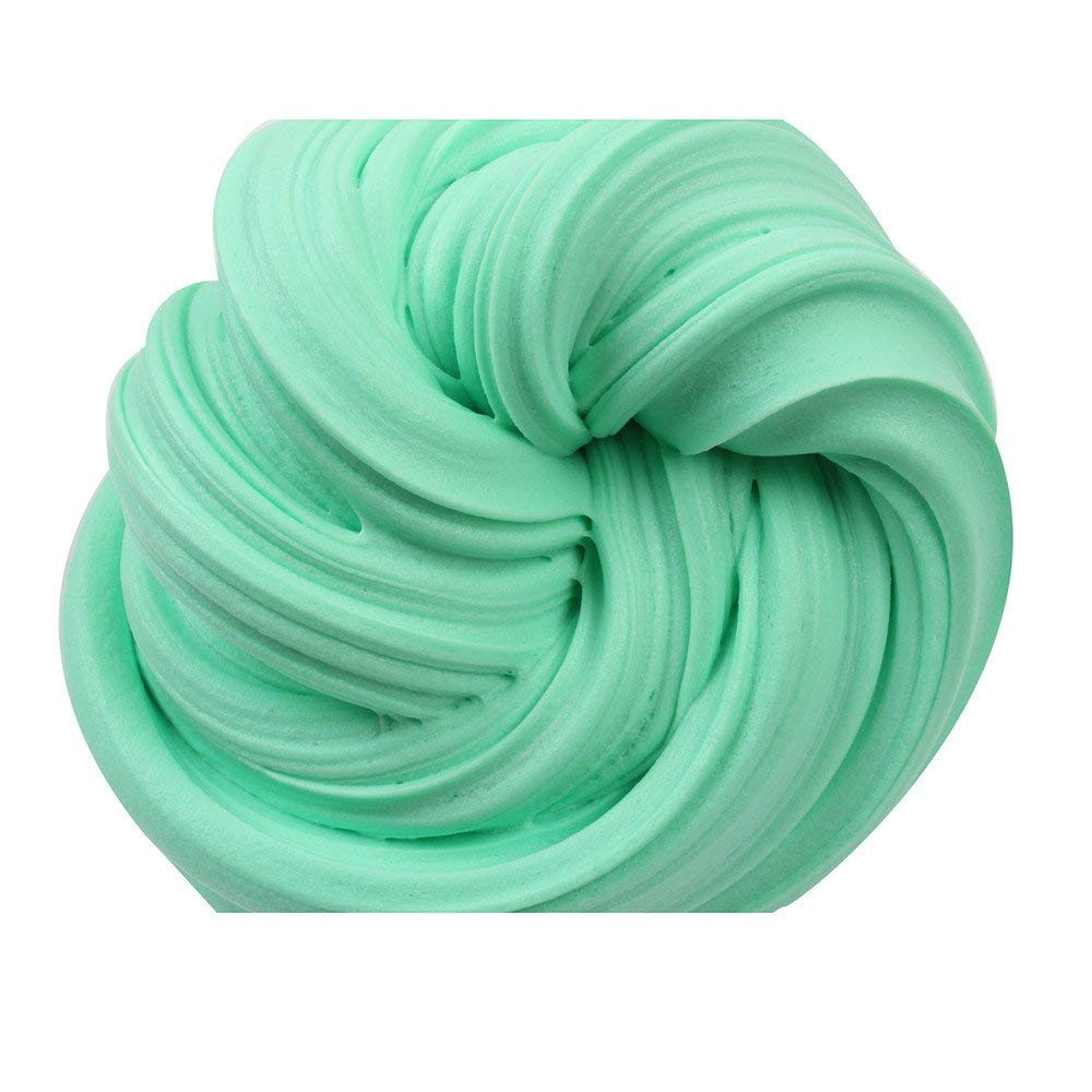USHOT Clearance Beautiful Color Cloud Slime Squishy Putty Scented Stress Kids Clay Toy Green