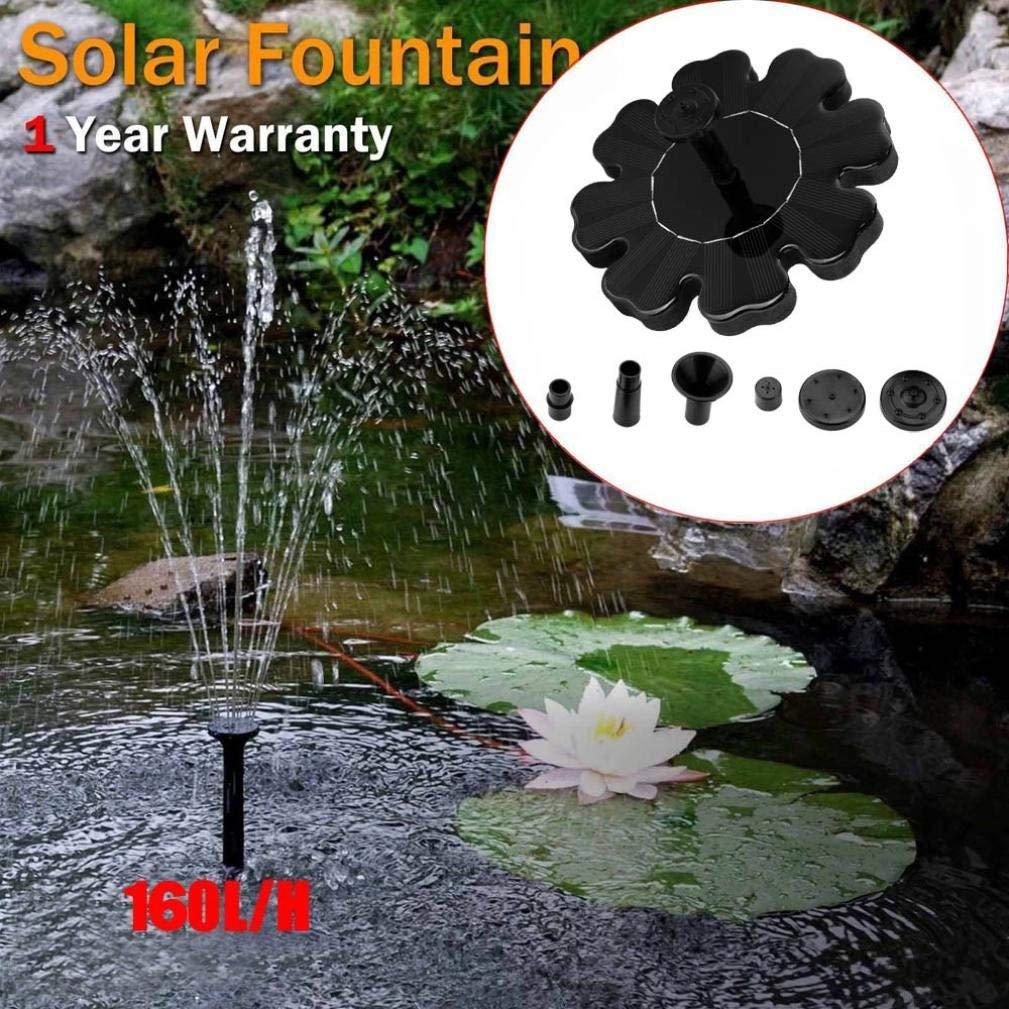 Solar Fountain Pump Bird Bath,NXDA Floating Outdoor Solar Powered Bird Bath Water Fountain Pump Kit For Pool, Garden, Aquarium,Fish Tank (Black)