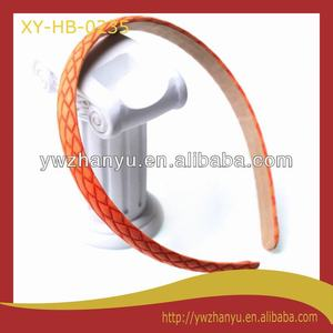 fashion hair accessories pu covered plain alice band