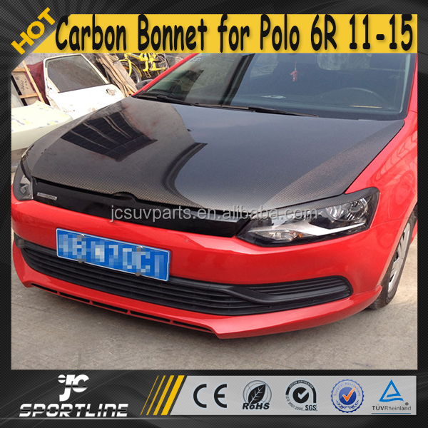 11-15 Auto Car Carbon Fiber Engine Hood for VW POLO 6R