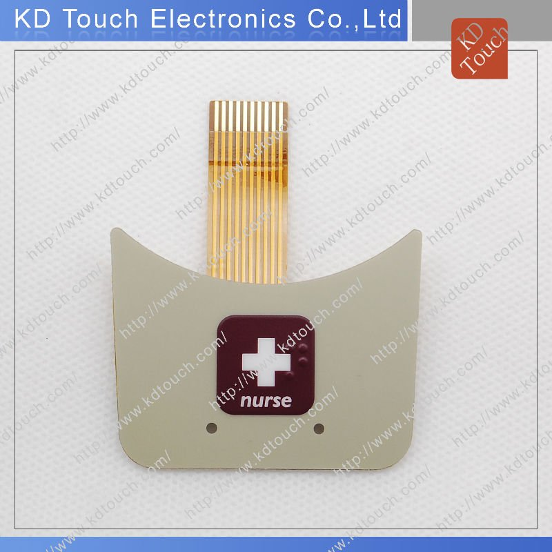 One key Graphic Overlay with Flexible Printed Circuit