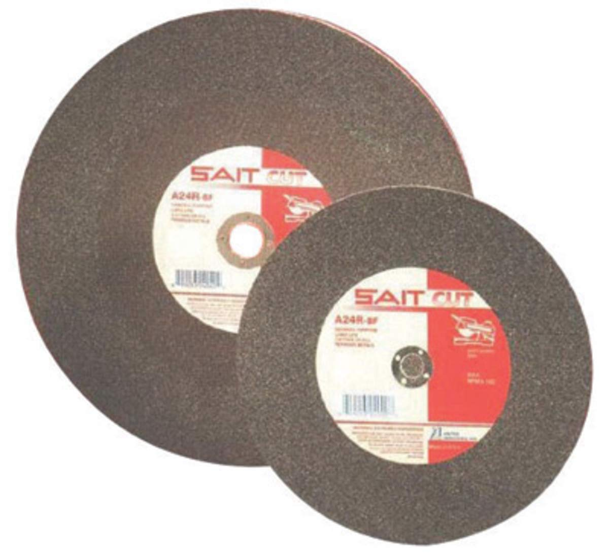 """United Abrasives 20"""" X 3/16"""" X 1"""" A24N 24 Grit Aluminum Oxide Type 1 Cut Off Wheel, Package Size: 5 Each"""
