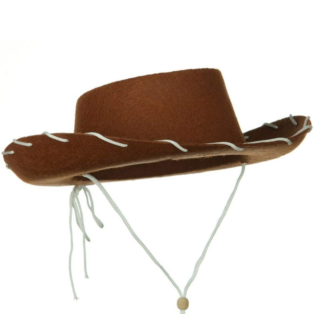 6e7b6d09bb9 Get Quotations · Jacobson Hat Company Childs Western Woody Style Kids Cowboy  Ranch Hat Brown