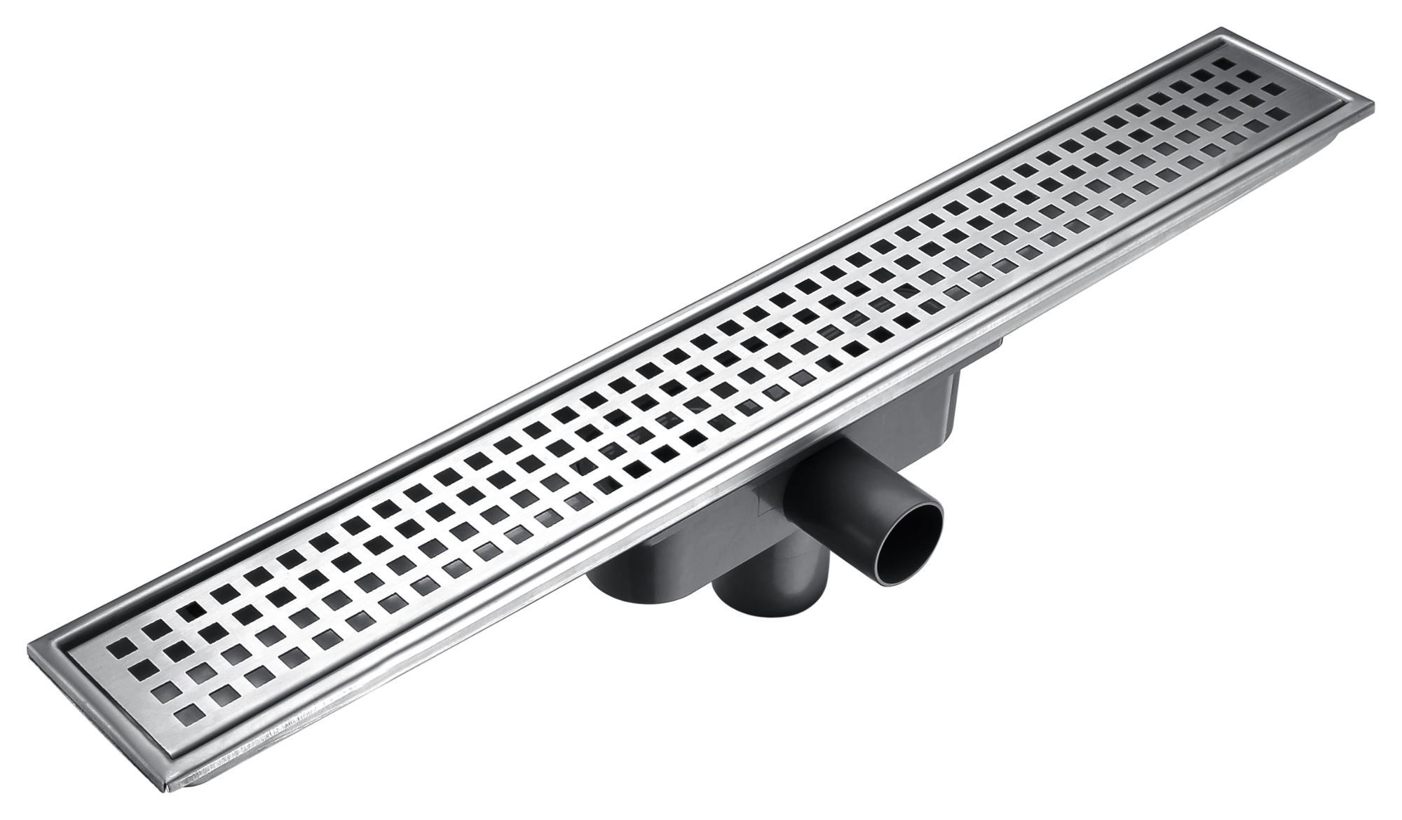 Zemin drenaj SUS304 paslanmaz çelik duş sifonları uzun drenaj banyo için