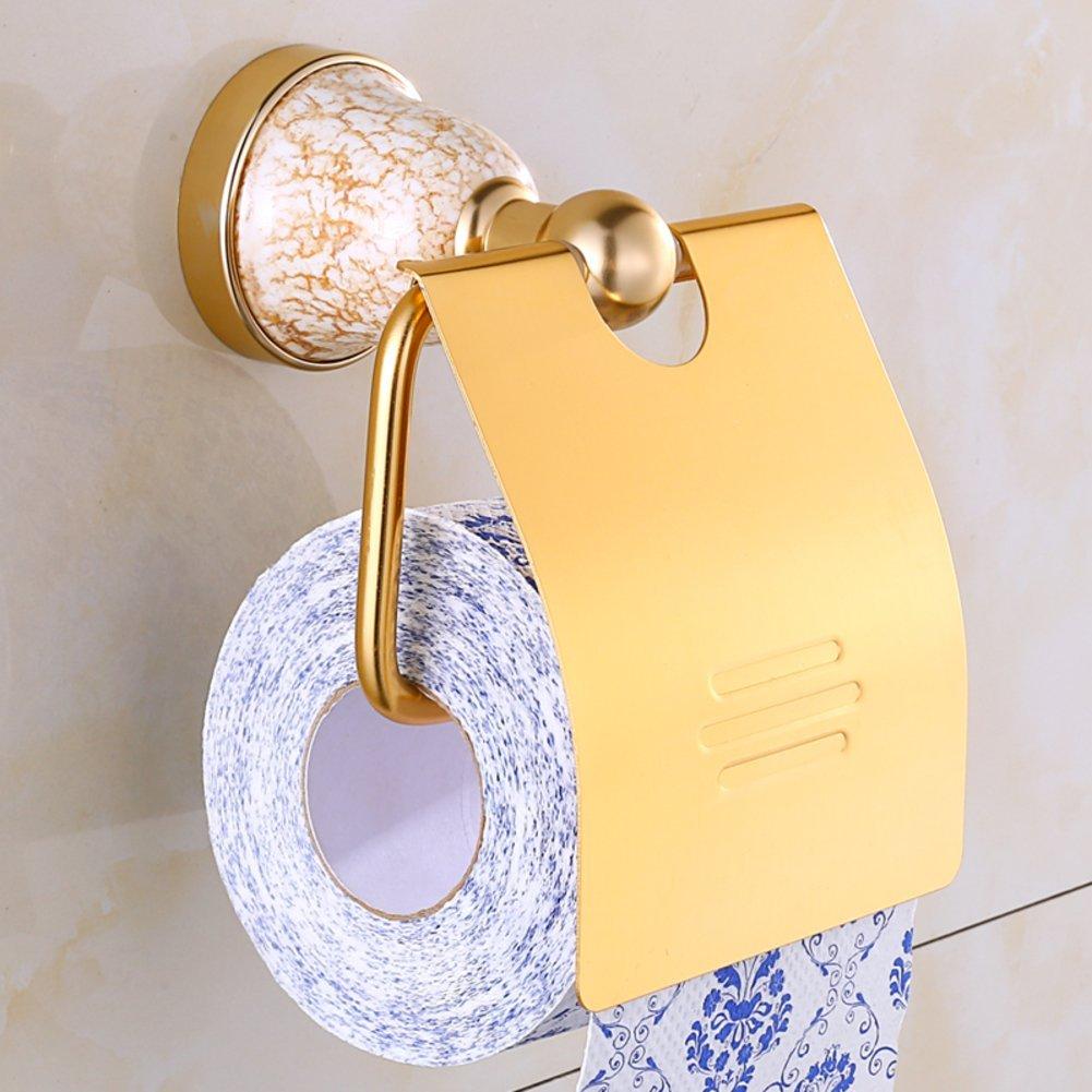 space aluminum gold Towel rack/Tissue box toilet paper toilet paper/Roll/Toilet paper holder/ toilet paper