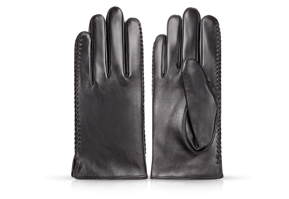 Wholesale windproof warm winter touch screen man leather gloves mittens