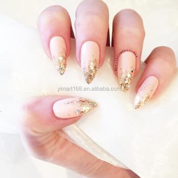 Yimart 600pcs Oval Sharp Nail Tips Round Full Cover Acrylic Fake Nails