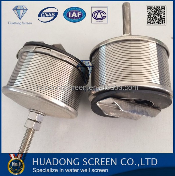 Hot sales in Brazil stainless steel wedge wire screen nozzle/sand filter nozzle with thread coupling