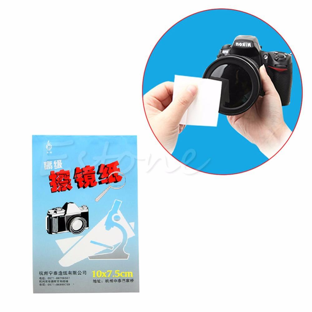1 шт. 50 Листов Мягкая Объектива Камеры Оптика Тканей Чистка Чистая Бумага Салфетки Буклет