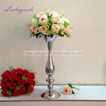 Ldj989 Modern Silver Wedding Flower Stand Centerpiece Main Table