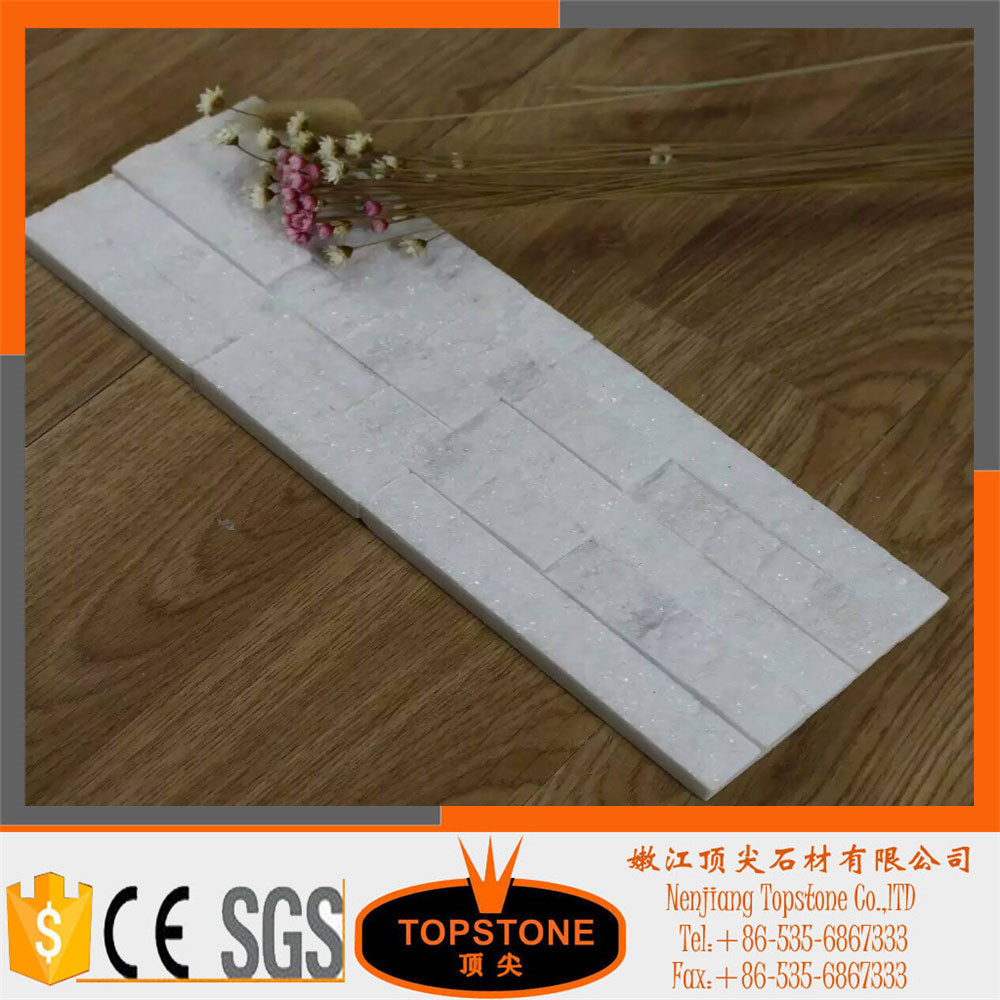 super White Quartzite wall panel/ pure white quartz culture stone
