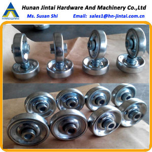 Pressed Steel Skate Wheel Conveyor Pressing Punching Ball Tranfer Stamping Bearing Skatewheel Conveyors