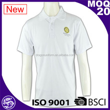high quality white and cotton unisex design your polo shirt
