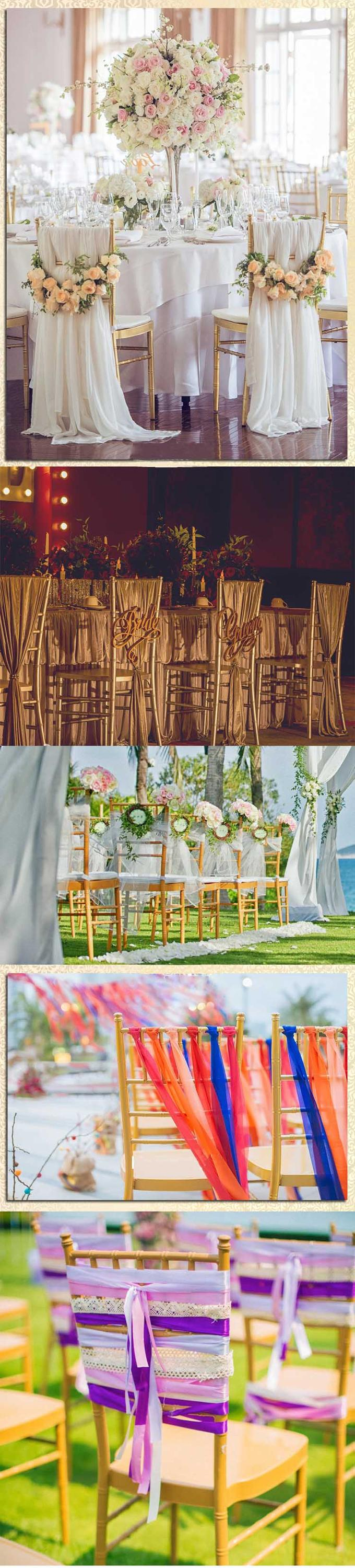 Wholesale Cheap Party Gold Chiavari Wedding Chairs Tiffany Banquet