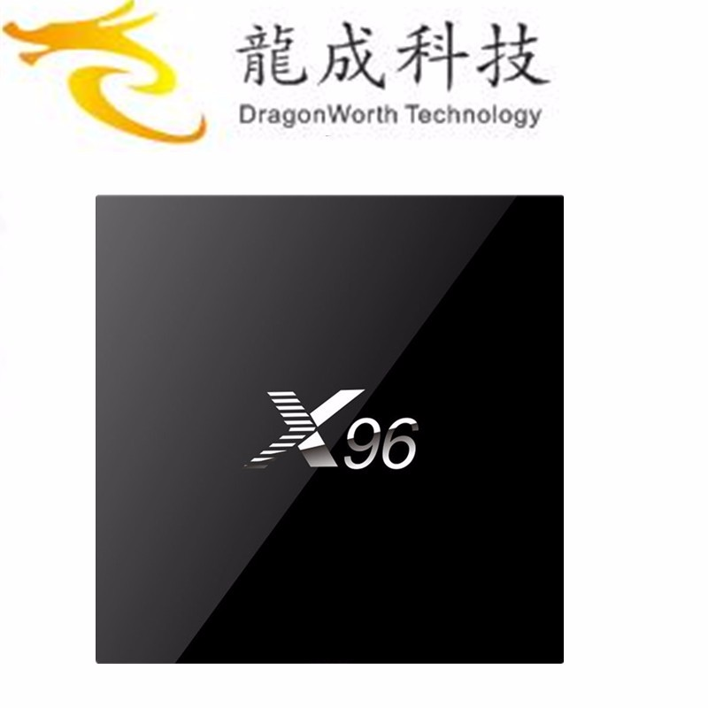 Dragonworth factory price Ott TV box X96 Amlogic S905X Quad Core TV Box Android 6.0 TV Box can OEM/ODM logo and UI/APP/packaging