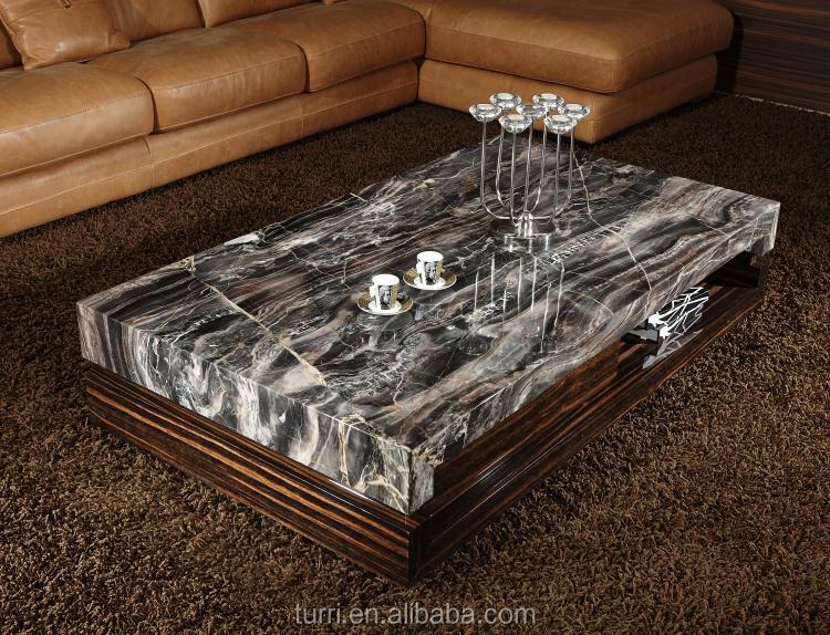Modern Marble Top Wooden Center Table For Living Room Furniture