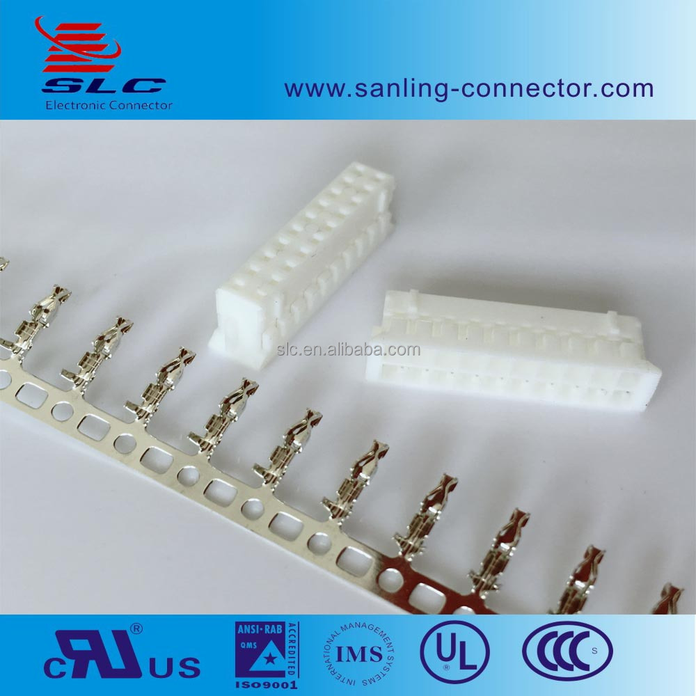 PCB 2.0mm pitch Terminal / Housing / Wafer dip connector, 20 pin auto electrical wire housing