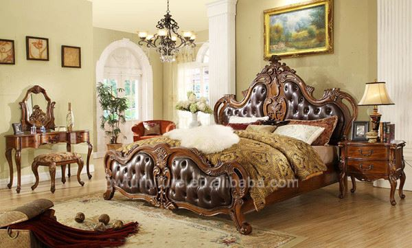 antique bedroom suites leather bed