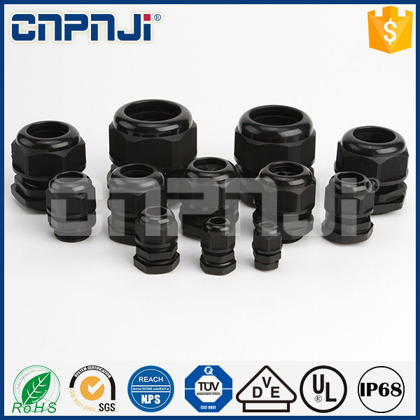 CE RoHS Standard IP68 PG7 PG48 Nylon PG waterproof Cable Glands