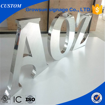 fabricated stainless steel decorative 3d metal letters