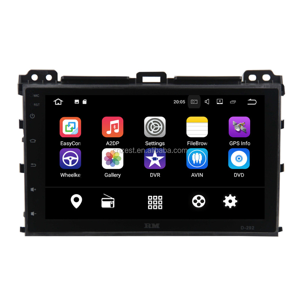 fit for toyota prado 2002-2009 car radio android with wifi/bt/obd2/tpms/gps/swc/usb