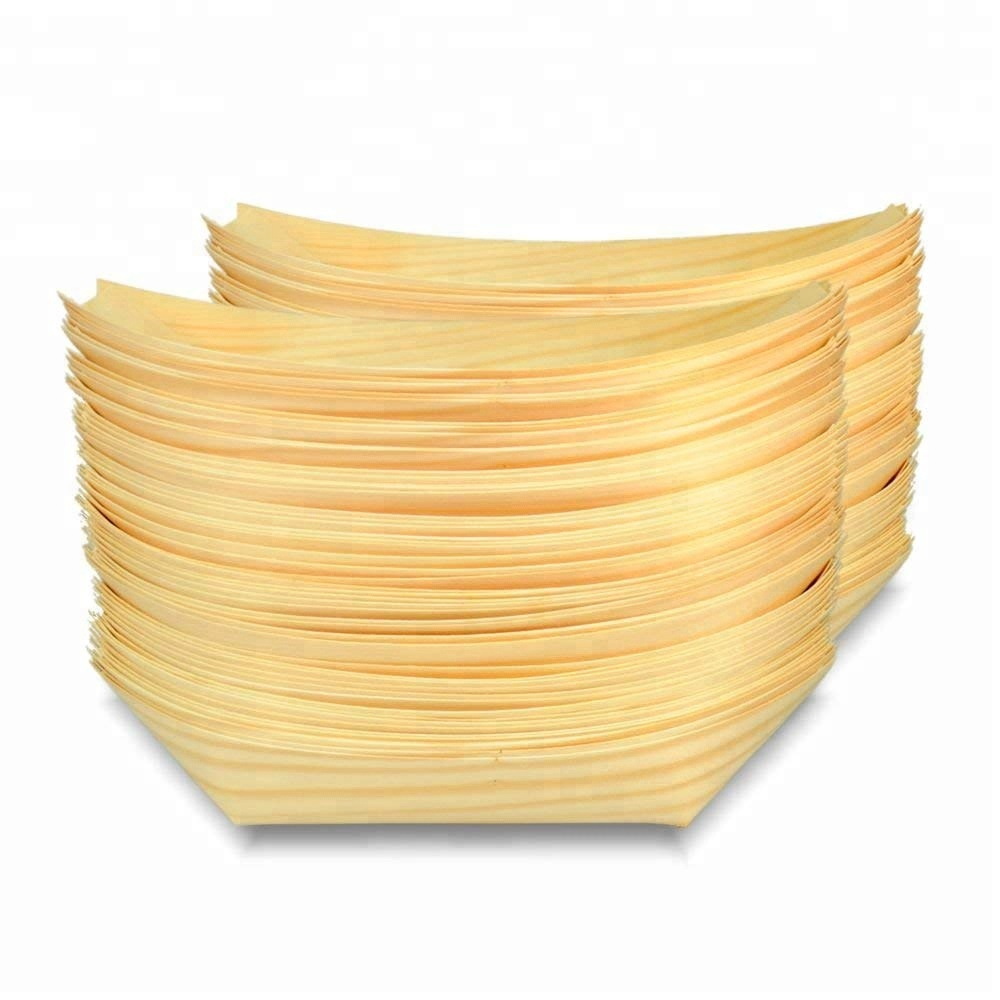 New Trending High Quality Disposable Wood Serving Food <strong>Plate</strong> Wholesale