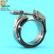 PDM 1.5'' Stainless Steel Quick Release V-band Clamps With Standard Flanges