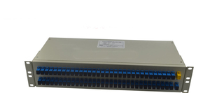 19' 1U Rack Mounted FTTH 1*64 1/64 1x64 Passive PLC Fiber Optic Splitter
