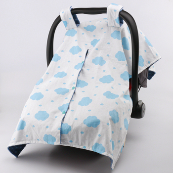 China Wholesale Organic Cotton Light Weight Baby Minky Car Seat Cover