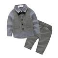 3piece Baby Boy Clothes Sets Vest Shirt Pants Gentleman Bow Tie Style Costume Boy Clothing Set
