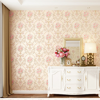 soundproof nonwoven beautiful natural 3d decorative flower wallpaper living room wall paper texture