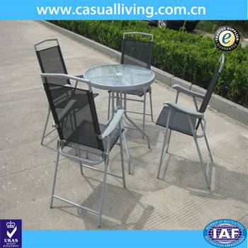 Astonishing Facility Metal Garden Furniture Set Folding Aluminum Chair And Round Table With Tempered Glass Garden Line Patio Set Buy Facility Metal Garden Bralicious Painted Fabric Chair Ideas Braliciousco