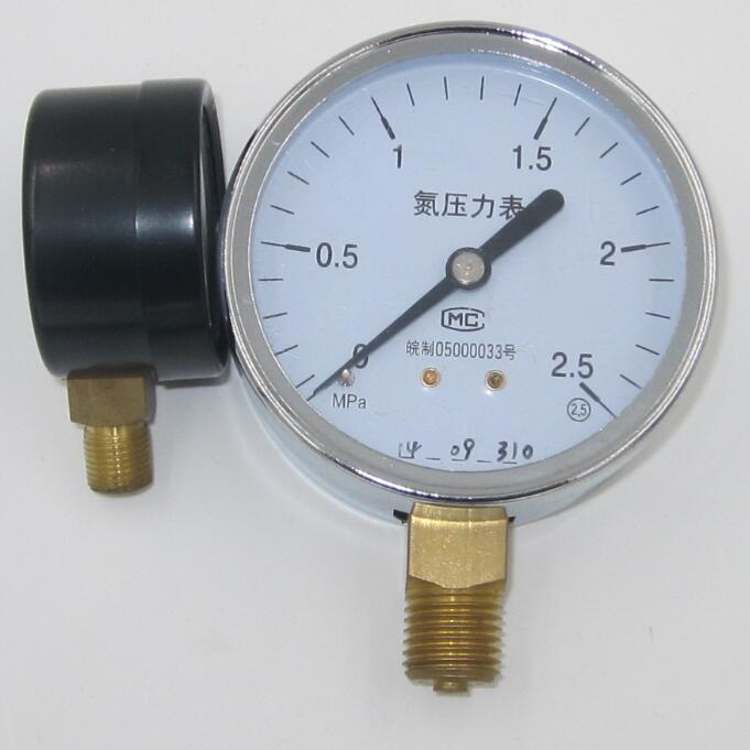 high quality stainless steel digital pressure gauge mmhg with BSP thread