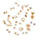 Promotional Inventory Products Fashion Costume Accessories New Design Gold Acrylic Resin Diamond Stud Earrings Set Jewelry
